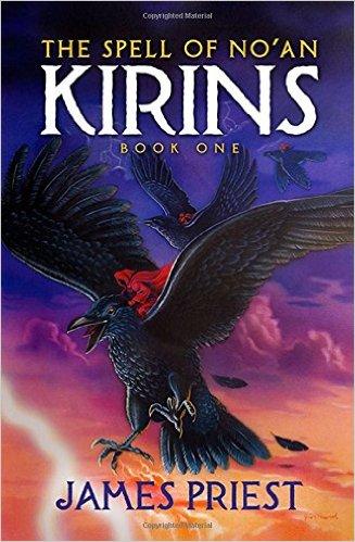 Book Cover illustration of giant flying black birds