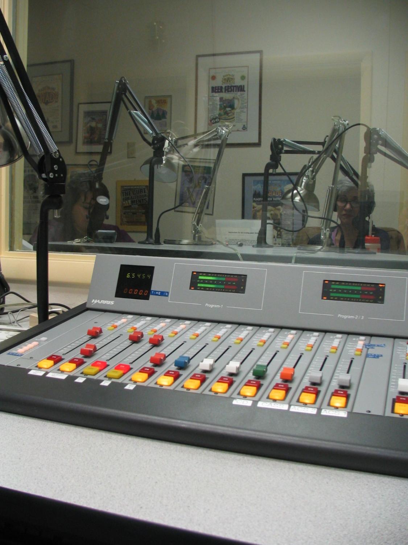 radio broadcast control board.