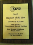 Photo of IAAIS Award Plaque